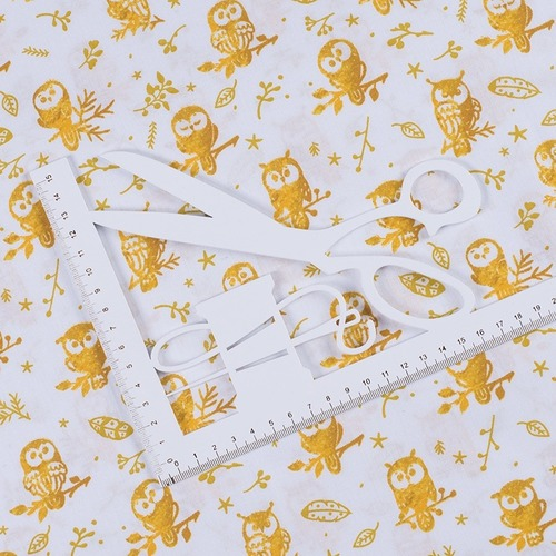 Ткань на отрез перкаль 150 см 13273-1 Little owls Компаньон фото 4