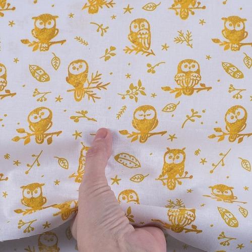 Ткань на отрез перкаль 150 см 13273-1 Little owls Компаньон фото 2