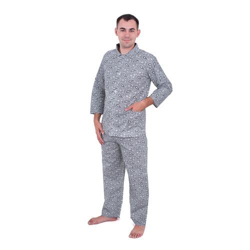 Пижама мужская бязь огурцы 40-42 цвет св серый фото 1