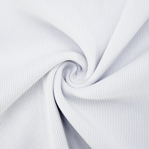 Ткань на отрез кашкорсе 3-х нитка с лайкрой цвет белый фото 1
