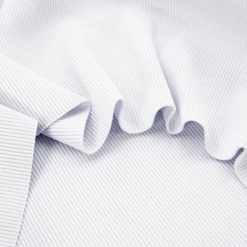 Ткань на отрез кашкорсе 3-х нитка с лайкрой цвет белый фото 4