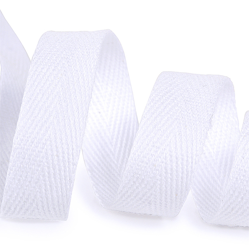 Лента киперная 10 мм хлопок 2.5 гр/см цвет F101 белый фото 1