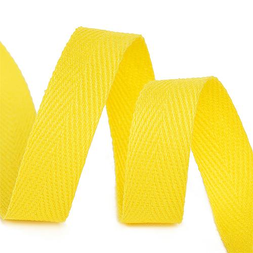 Лента киперная 10 мм хлопок 2.5 гр/см цвет F110 желтый фото 1