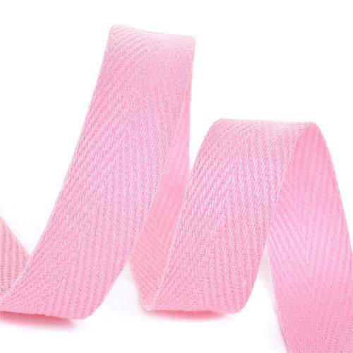 Лента киперная 10 мм хлопок 2.5 гр/см цвет F134 розовый фото 1