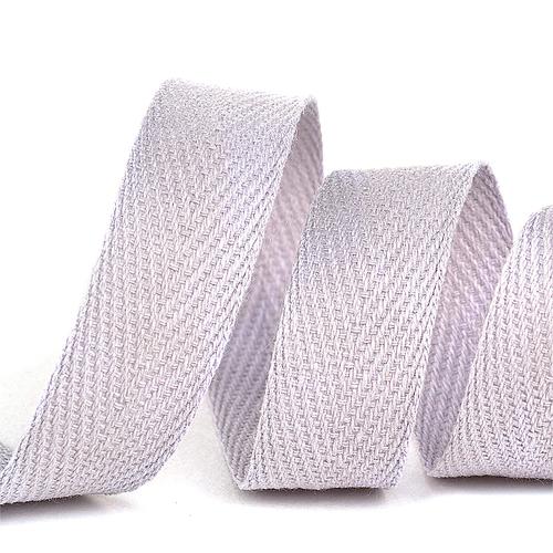Лента киперная 10 мм хлопок 2.5 гр/см цвет S154 светло-серый фото 1
