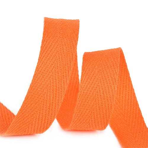 Лента киперная 10 мм хлопок 2.5 гр/см цвет F157 оранжевый фото 1