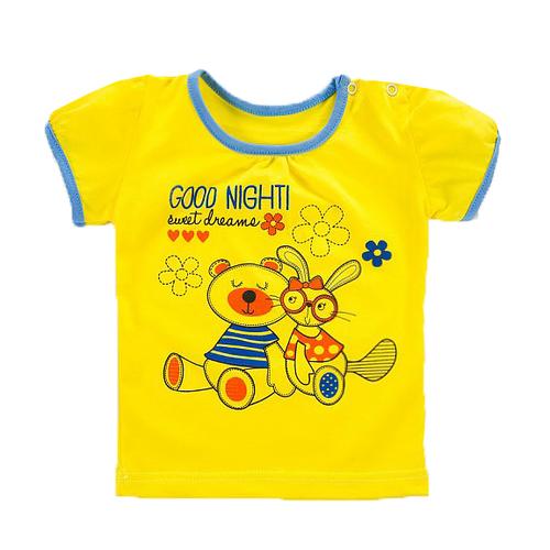 Футболка трикотаж для девочек Good night рукав короткий 122-128 см фото 1