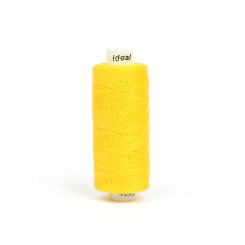 Нитки бытовые IDEAL 40/2 366м 100% п/э, цв.132 желтый фото 1