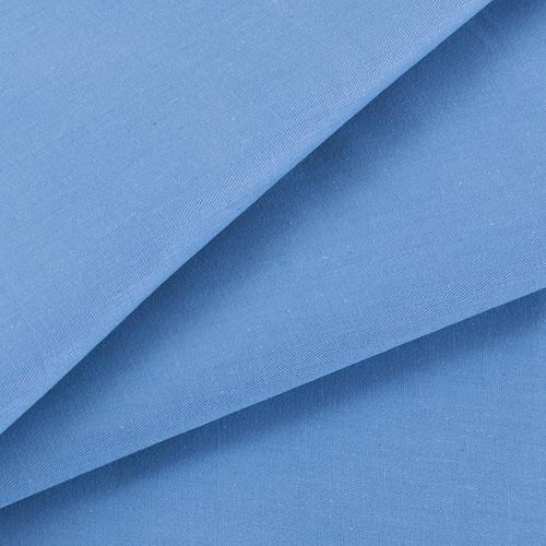 Ткань на отрез сатин гладкокрашеный 245 см 15-3920 цвет голубой фото 1
