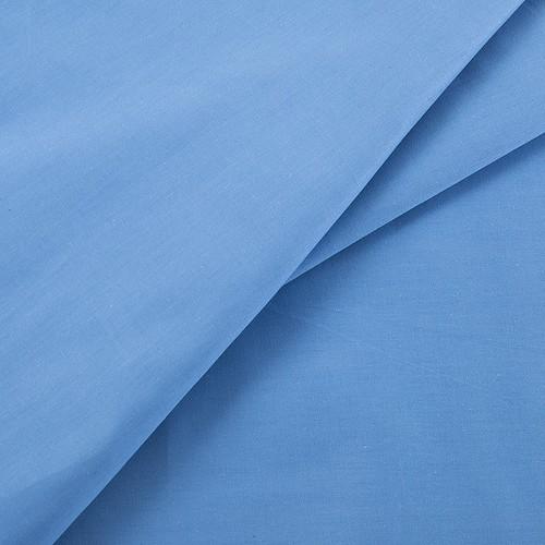 Ткань на отрез сатин гладкокрашеный 245 см 15-3920 цвет голубой фото 2