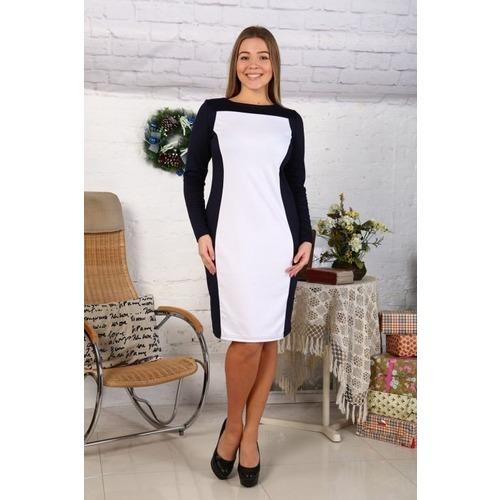 Платье Жасмин белое с синим Д447 р 58 фото 1