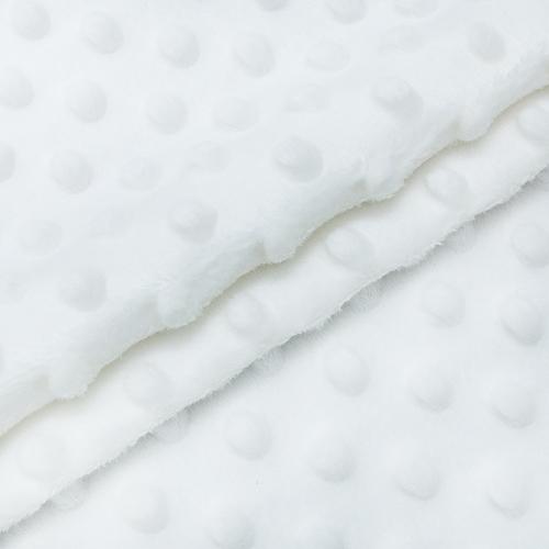 Мерный лоскут Плюш Минки Китай 180 см/78 см цвет белый фото 1