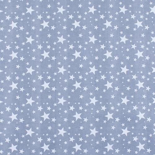 Мерный лоскут поплин 150 см 433/17 Звездочка цвет серый 4,7 м фото 1