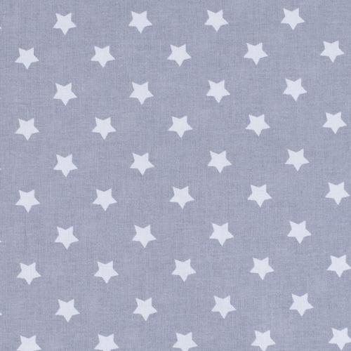 Мерный лоскут поплин 150 см 390/17 Звездочки цвет серый 2,7 м фото 1