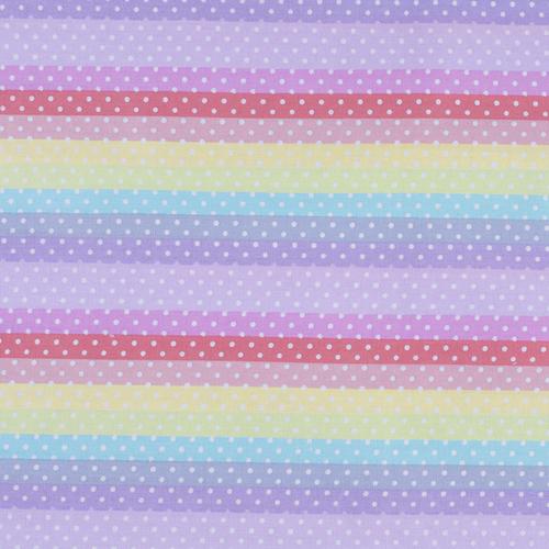 Мерный лоскут поплин 150 см 2158/1 Горох на радуге 5 м фото 1