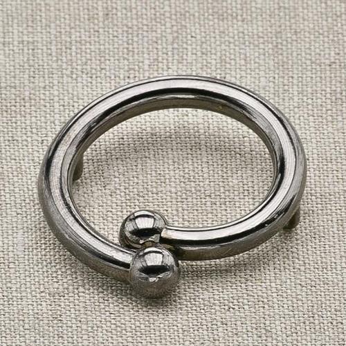 Пуговица металл ПМ24 черный никель уп 12 шт фото 1
