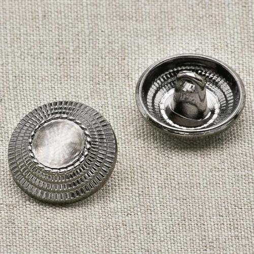 Пуговица металл ПМ35 черный никель уп 12 шт фото 1