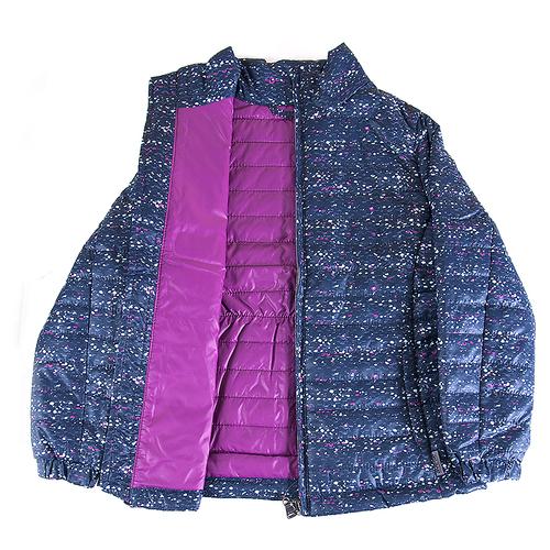 Куртка 16632-202 Avese цвет сине-розовый рост 116 фото 2