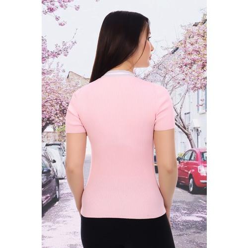 Джемпер 6577 цвет розовый р 44 фото 2