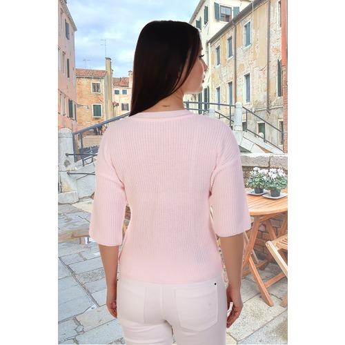 Джемпер 6578 цвет светло-розовый р 42-44 фото 2