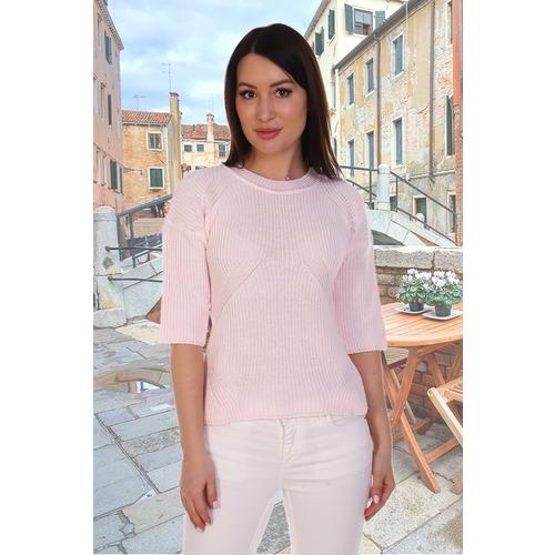 Джемпер 6578 цвет светло-розовый р 46-48 фото 1