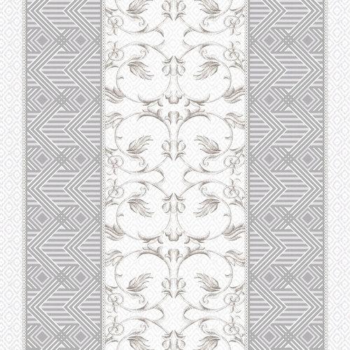 Ткань на отрез дорожка 50 см 5475/1 Вензель цвет серый фото 1
