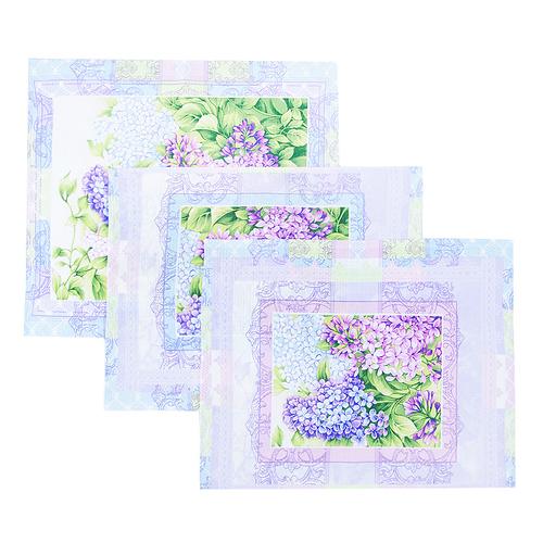 Набор вафельных полотенец 3 шт 50/60 см 20085/1 Сирень фото 1