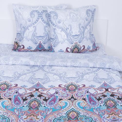 Постельное белье из поплина 559/1 Волшебная ночь голубая Семейный фото 1