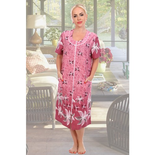 Халат Кардамон 11998 цвет розовый р 56 фото 1