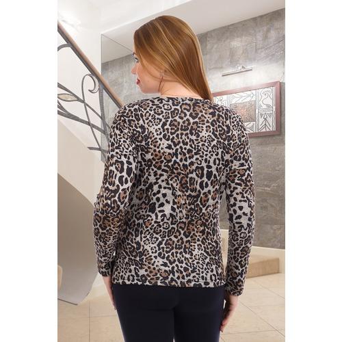 Джемпер Гепард 9573 цвет леопард р 48 фото 3
