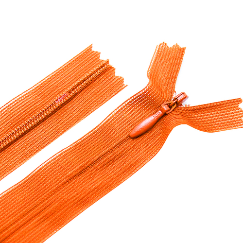 Молния пласт потайная №3 50 см цвет оранжевый фото 1