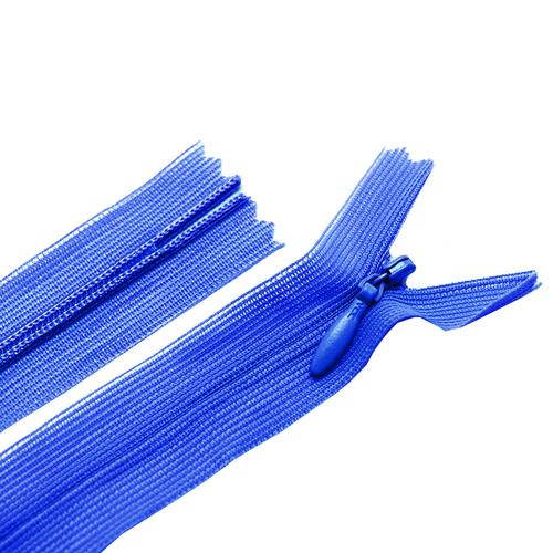 Молния пласт потайная №3 50 см цвет синий фото 1