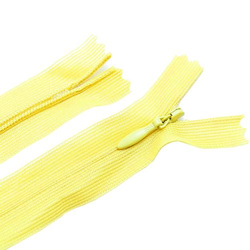 Молния пласт потайная №3 50 см цвет т-желтый фото 1
