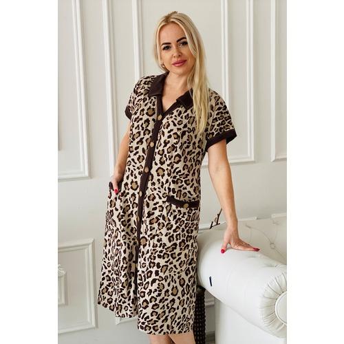 Халат 7058 цвет леопард р 62 фото 7