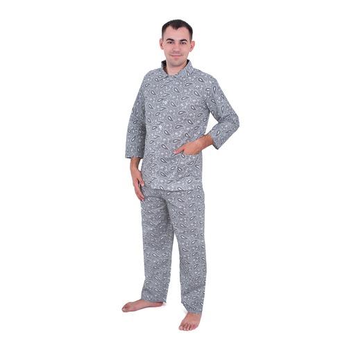 Пижама мужская бязь огурцы 44-46 цвет св серый фото 1