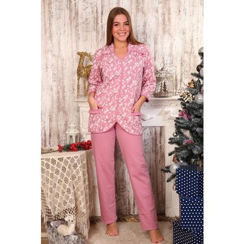 Пижама Рюша Брюки Розовая Б21 р 56 фото 1