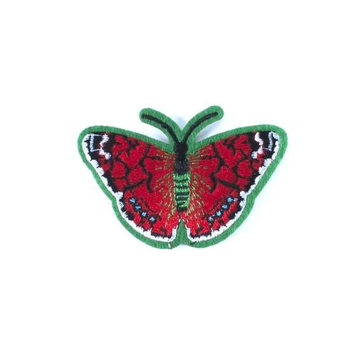 Термоаппликация ТАВ 203 бабочка красная 7,5*5см фото 1
