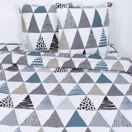 Постельное белье из поплина 28280/1 Треугольники 2-х сп с евро простыней фото 1