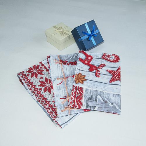 Набор полотенец рогожка 3 шт 50/60 см 10731/1 Чудеса фото 5