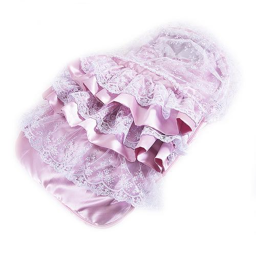 Конверт-одеяло из 2-х предметов цвет розовый фото 1