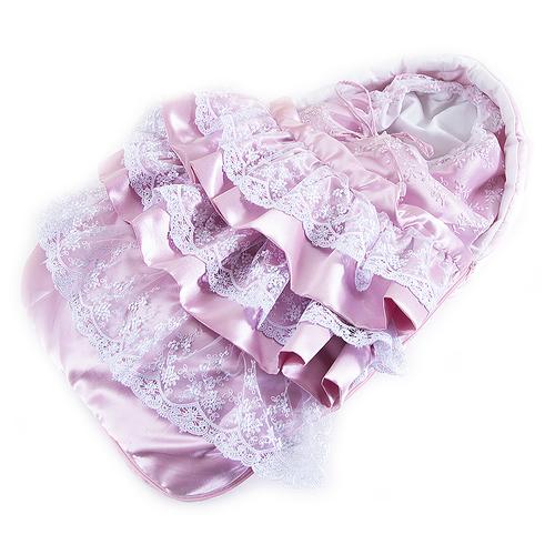 Конверт-одеяло из 2-х предметов цвет розовый фото 2