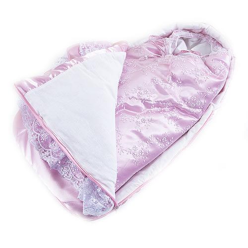 Конверт-одеяло из 2-х предметов цвет розовый фото 3