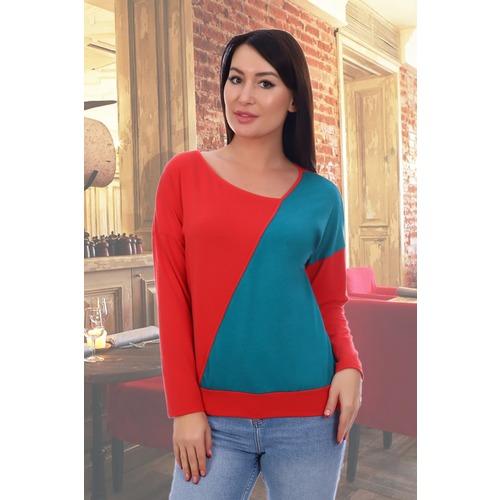 Блузка Пазл 9135 красный р 52 фото 3