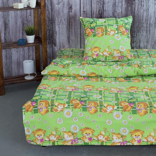Детское постельное белье из бязи 1.5 сп 837/1 цвет зеленый фото 1