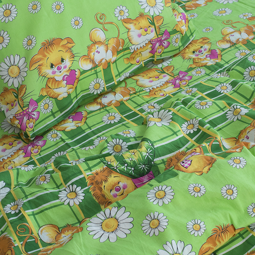 Детское постельное белье из бязи 1.5 сп 837/1 цвет зеленый фото 4