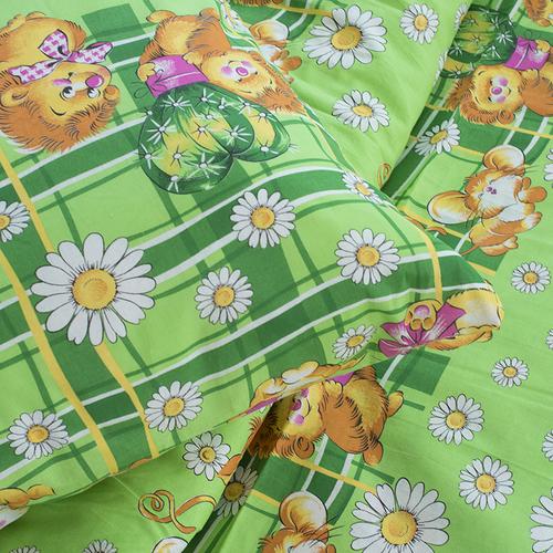 Детское постельное белье из бязи 1.5 сп 837/1 цвет зеленый фото 3