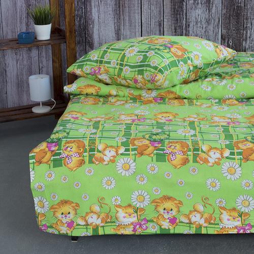 Детское постельное белье из бязи 1.5 сп 837/1 цвет зеленый фото 2