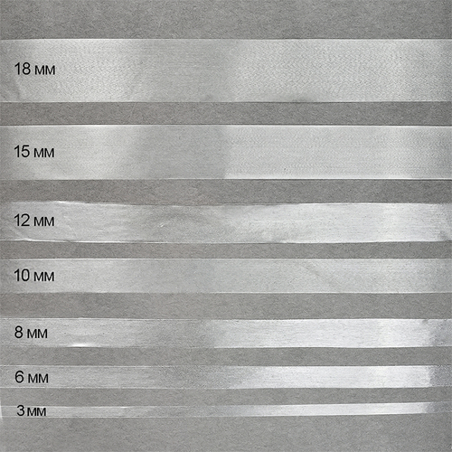 Лента силиконовая матовая ширина 6 мм толщина 0.12 мм фото 1