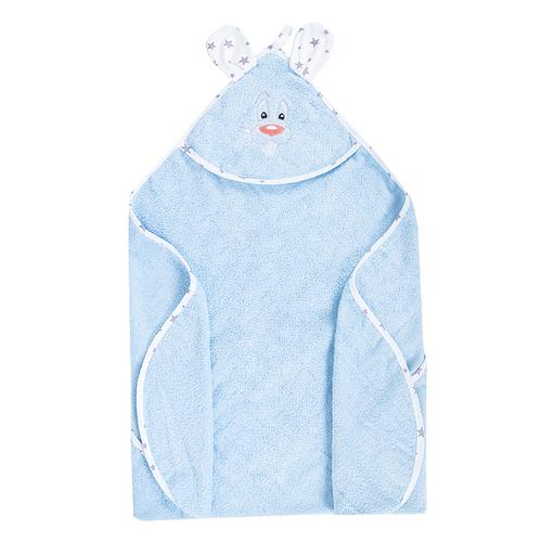 Уголок детский махровый с вышивкой голубой фото 2