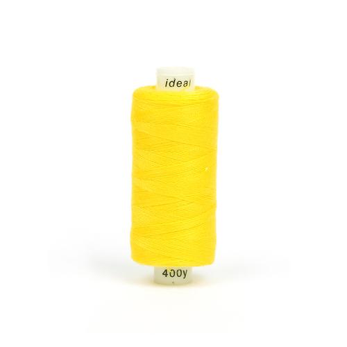 Нитки бытовые IDEAL 40/2 366м 100% п/э, цв.127 желтый фото 1